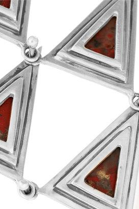 Pamela Love 7 Pyramid Piece silver jasper finger bracelet