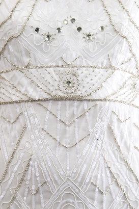 Sue Wong Art Deco Lazer Petal Gown