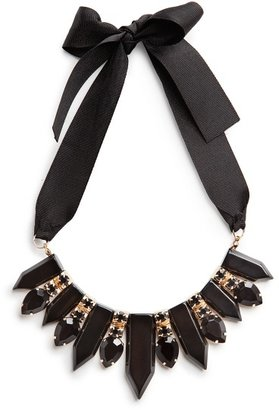 MANGO Outlet Faceted Pieces Ribbon Necklace
