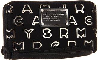 Marc by Marc Jacobs Dreamy Logo Neoprene Metallic Wingman (Black Multi) - Bags and Luggage