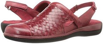 SoftWalk Salina Woven (Stone Burnished Veg Leather) Women's Clog Shoes