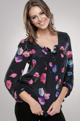 Rebecca Taylor Les Fleurs Long Sleeved Blouse