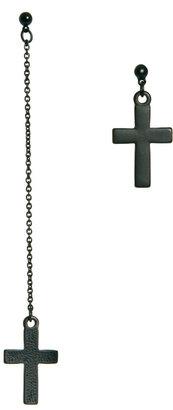 Asos Mismatch Cross Earrings