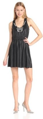 T-Bags Tbags Los Angeles Women's Sequin Scoop Neck Sleeveless Short Dress
