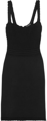 Dolce & Gabbana Crochet-paneled stretch-knit dress