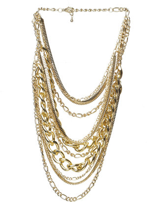 Arden B Chunky Chain Layer Necklace