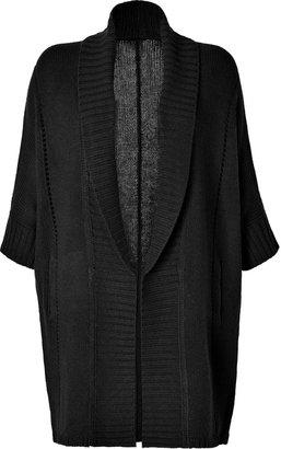 Dear Cashmere Wool Cocoon Cardigan in Black