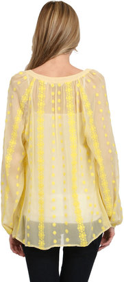 Zoa Long Sleeve Blouse in Canary