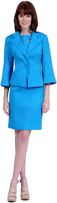 Kay Unger Textured Bell Sleeve Blazer