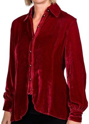 Ryan Michael 148 Drape Blouse - Long Sleeve (For Women)