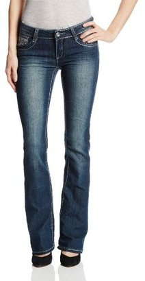 Southpole Juniors Novelty Denim In Bootcut Jean with Back Pocket Detail