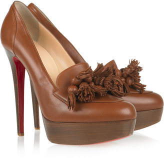 Christian Louboutin Agence 140 tasseled leather pumps