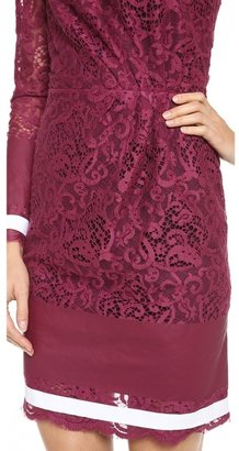 MSGM One Shoulder Lace Dress