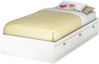 Green Baby South Shore Sparkling Collection Twin (39'') Mates Bed - Pure White