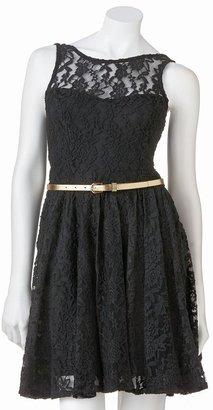 Sebastian Margo & lace sleeveless dress - juniors