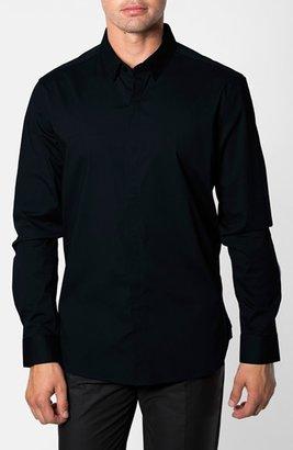 Men's 7 Diamonds 'Peace Train' Trim Fit Woven Shirt $99 thestylecure.com