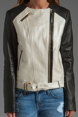 Mackage Belle Distressed Leather Jacket