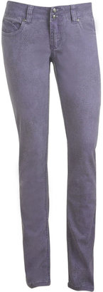 Wet Seal Colored Python Print Skinny Jean