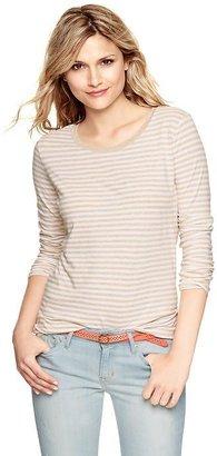 Gap Essential striped long-sleeve scoop T