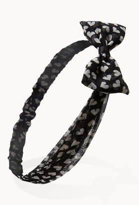 Forever 21 heart bow headwrap