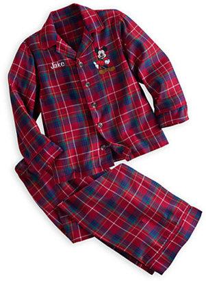 Disney Mickey Mouse Plaid Pajama Set for Boys - Personalizable