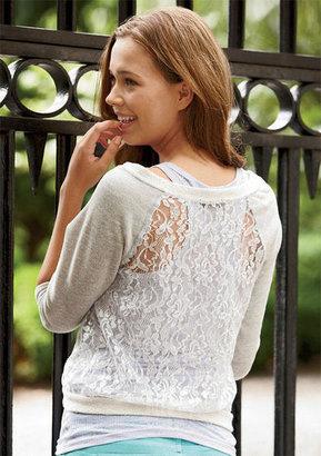 Delia's Foil Lace-Back Sweatshirt