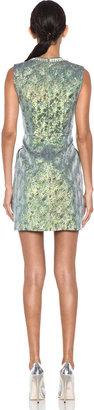 Matthew Williamson Iridescent Floral Shift Dress in Green