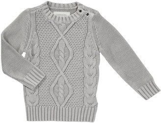 Diesel Krobib Knit Crew Sweater - Grey-12 Months