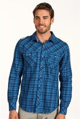 Calvin Klein Jeans L/S Woven Steely Plaid Shirt (Egyptian Glaze Blue) - Apparel