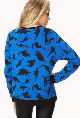 Forever 21 Quirky Dinosaur Sweatshirt