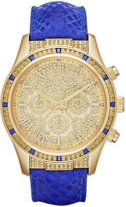 Michael Kors Watch, Women's Chronograph Layton Blue Leather Strap 44mm MK2311