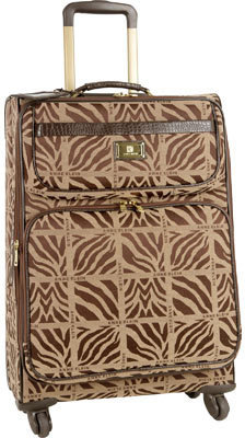 """Anne Klein Mane Line 24"""" Expandable Spinner - Tan/Brown Suitcases"""