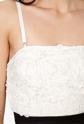 Forever 21 Floral Appliqué Fit & Flare Dress