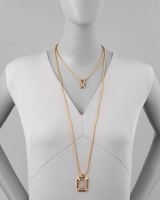 Rebecca Minkoff Framed Rhinestone Necklace (Stylist Pick!)