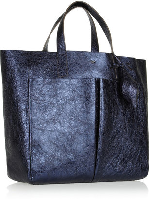 Anya Hindmarch Balthasar Nevis metallic leather tote