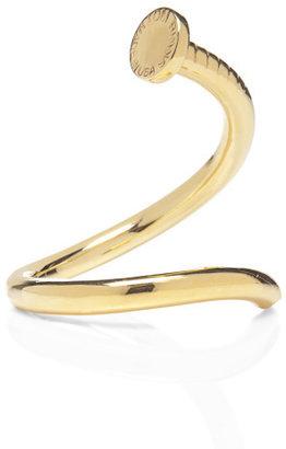 Tom Binns Voila Gold-Plated Nail Head Cuff