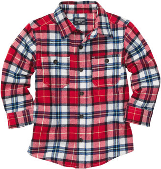 Osh Kosh Button-Front Plaid Flannel Shirt