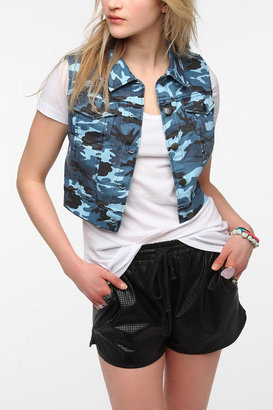 Tripp NYC Camo Denim Vest