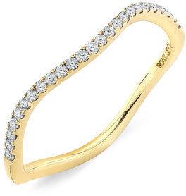 Nordstrom Women's Bony Levy Stackable Wavy Diamond Ring Exclusive)