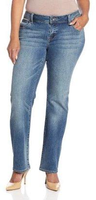 Lucky Brand Women's Petite-Plus-Size Georgia Straight-Leg Jean In Sandy Cross