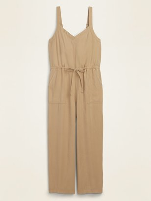 Old Navy Soft-Woven Drawstring-Waist V-Neck Jumpsuit for Women