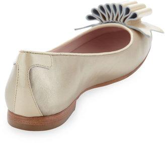 Taryn Rose Betsy Ballerina Flat, Champagne