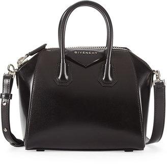 Givenchy Antigona Mini Box Calf Satchel Bag, Black