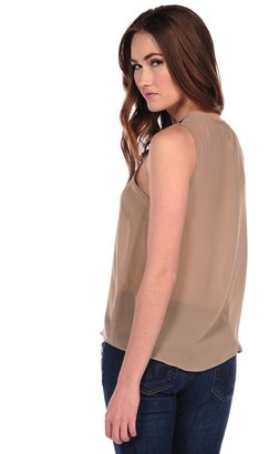 Romeo & Juliet Couture Bead Collar Sleeveless Top