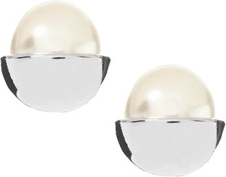 Banana Republic Pearl Caps Stud Earring