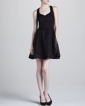 Zac Posen Organza Fit-and-Flare Dress
