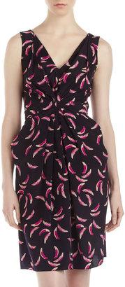 Yoana Baraschi Pink Feather Date Dress