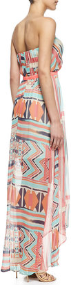 Twelfth St. By Cynthia Vincent Strapless Ruffle Maxi