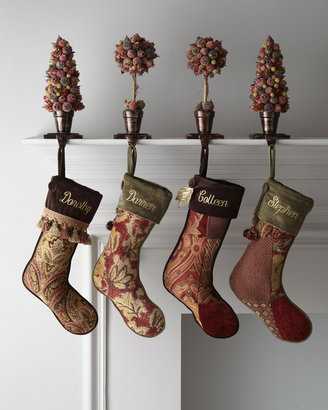 """Horchow French Laundry Home """"Patchwork"""" Harvest & Paisley Christmas Stockings"""