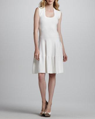 Rebecca Taylor Sleeveless Tiered Circle-Skirt Dress